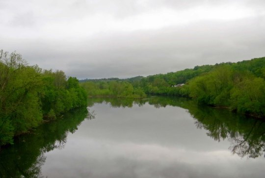Reflection shot of the James River as see from the Blue Ridge Parkway bridge.
