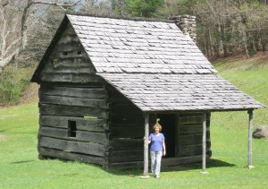 Jesse Brown's cabin on the Blue Ridge Parkway.