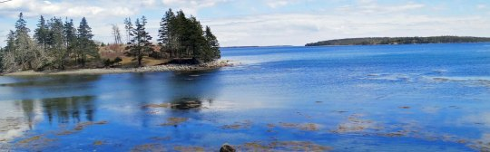 Numerous islands, such as this, are scattered along Nova Scotia's East Coast.