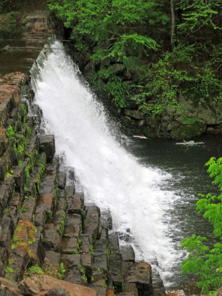 Otter lake spillway along the Blue Ridge Parkway in Virginia.