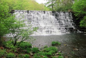 Spillway to Otter Lake along the Blue Ridge Parkway in Virginia.