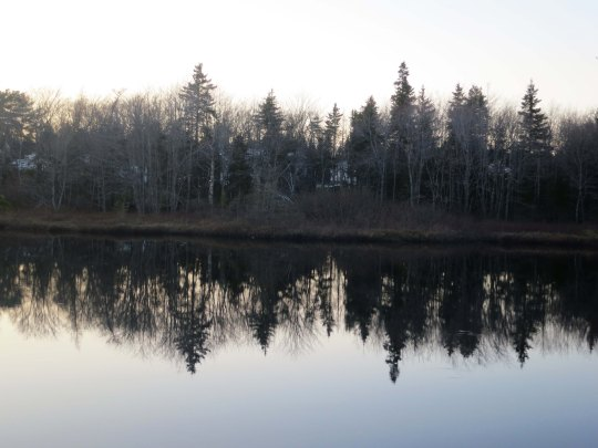 A small lake just west of Halifax provided this reflection shot...