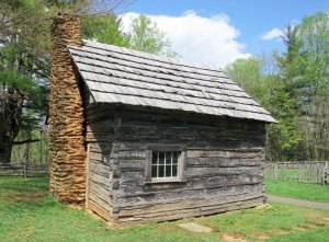 The Plackets cabin on the Blue Ridge Parkway in Virginia.