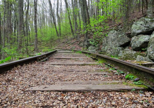 Irish Creek Railroad next to the Blue Ridge Parkway in Virginia.