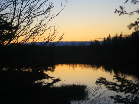 A small lake near Halifax provided a sunset shot...