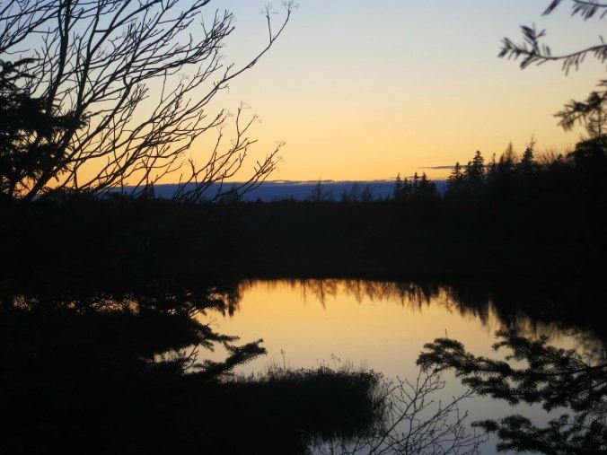 A small lake near Halifax provided a sunset shot...