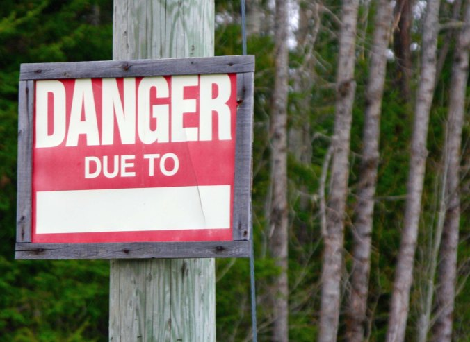 When you choose to depart from familiar well-known roads, whether you are on an external or internal journey, it helps to have some idea of what you might be facing, and be prepared. I loved this 'fill in the blank' sign I found in Northern Quebec.