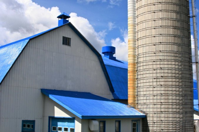 The small farms of the Atlantic Provinces gave way to more industrial size farms in Quebec.