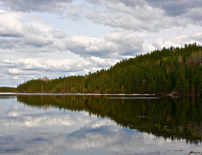 Numerous lakes, streams and rivers are found along the road. The first half seemed heavier on lakes, the second half on rivers.