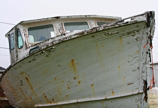 Appropriate to Victoria's seagoing past, we found and admired this retired fishing boat.