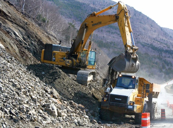 The Cabot Trail often requires road work after a rough winter.
