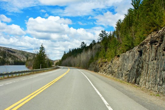 Quebec Highway 132 provided a relatively easy and quite scenic route over the Gaspe Peninsula.