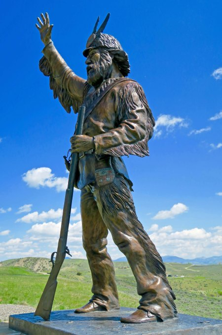 This sculpture of a mountain man...
