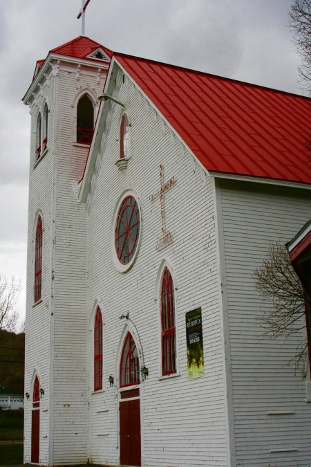 The Catholic Church in Matapedia, Quebec was quite large for the small community it served.