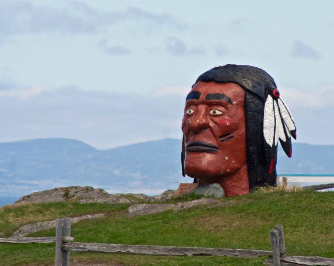 And this somewhat strange sculpture of a First Nation native.