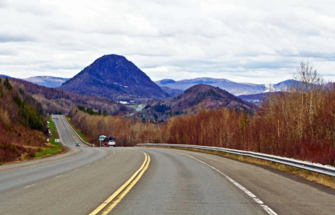 Back on New Brunswick 11, I left behind the flatlands of the coast and entered the province's more mountainous northwest.