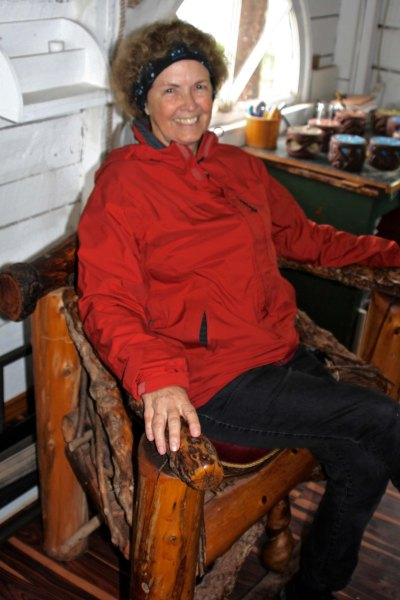 And sitting on the 'lucky chair.'