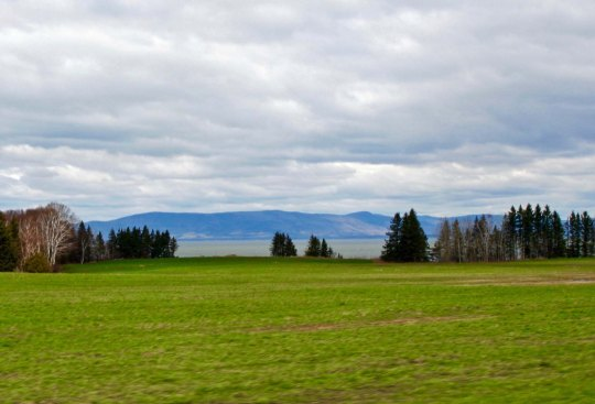 Looking across Chaleur Bay at the Chic Choc Mountains on the Gaspe Peninsula, I could see a climb in my future.