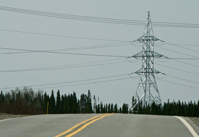 And they reminded us how much Quebec depends upon hydro-electric power. We crossed under high power lines several times coming down from the north several times.