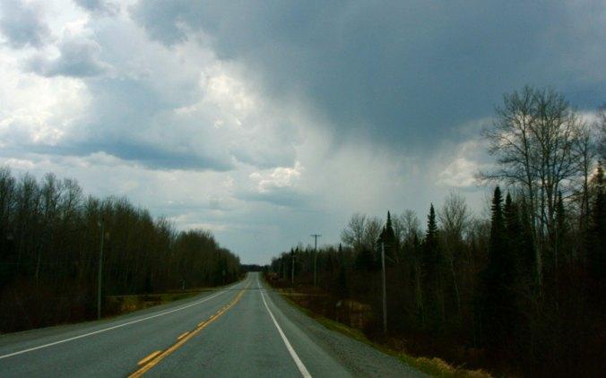 Rain reminded me of my bike trip.