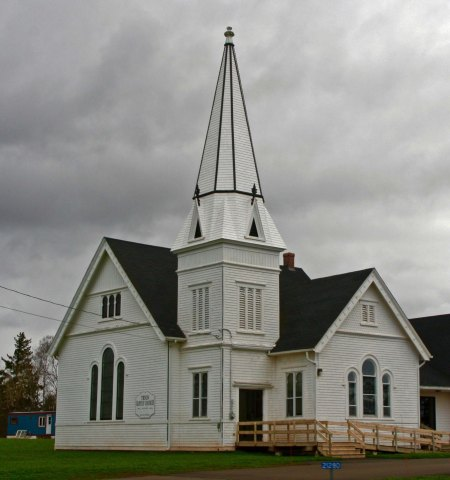 Check this out. Note how similar the church looks to the one above. The other church I photographed was laid out in the same way. I believe the churches were different denominations. Was a common architect involved?