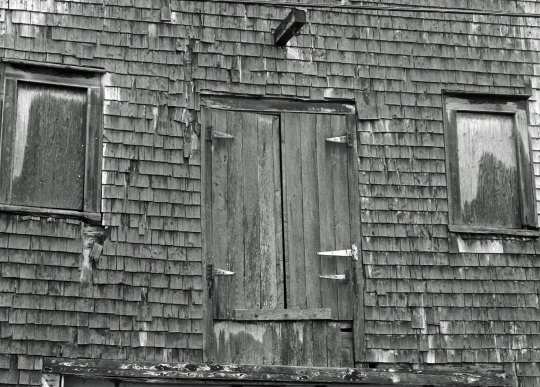 I found these old barn loft doors intriguing.