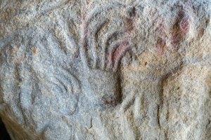 Petroglyph from Sleeping Buffalo Rock along Highway 2 in Montana.