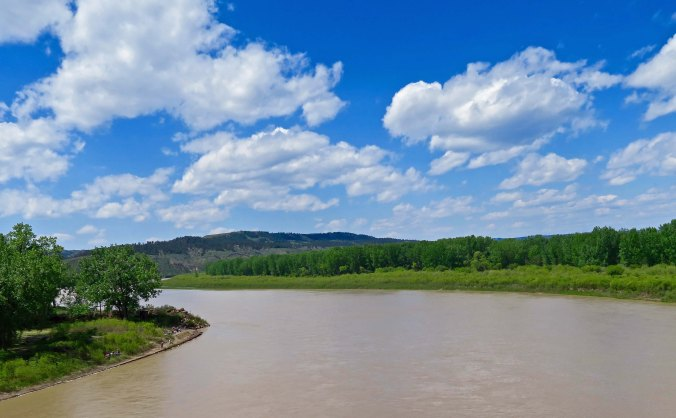 The Missouri River in Montana along US Highway 191