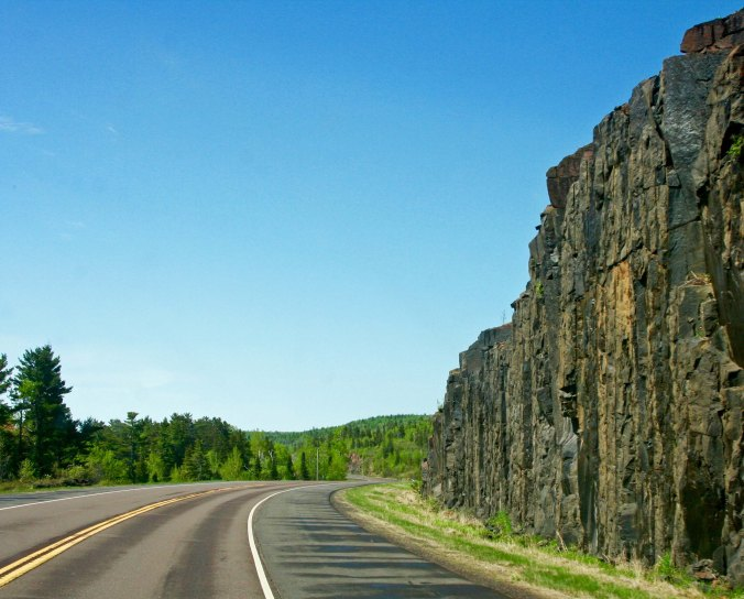A view of Minnesota Highway 61, a great road for bicycling.