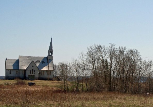 This abandoned church caught my attention...