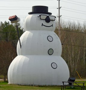 The 'World's Largest Snowman' in Beardmore, Ontario Canada.