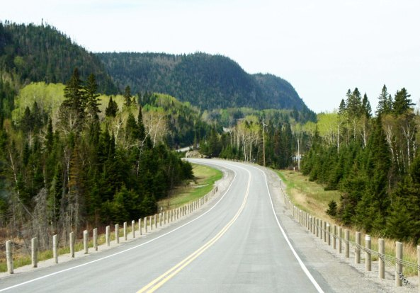 As I approached Thunder Bay, Mountains provided both beauty and a more challenging ride.