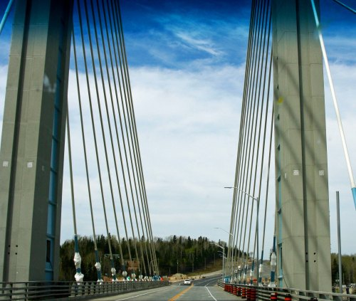 Nipigon River Bridge in Ontario Canada