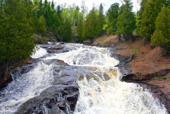 The Cross River on the north shore of Lake Superior along Minnesota's scenic Highway 61.