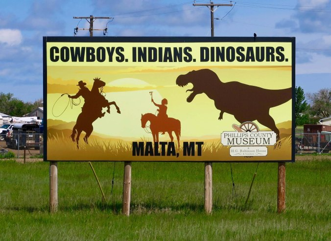 Sign for the Malta, Montana museum.