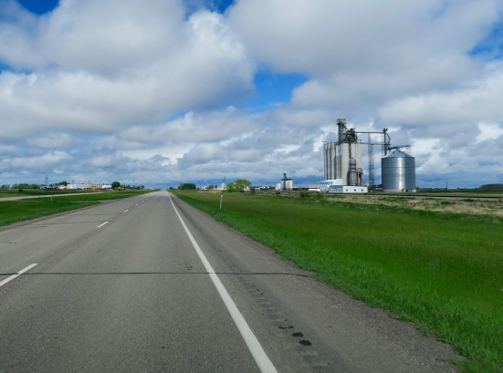 The importance of agriculture to North Dakota could be seen everywhere, as with these distant storage elevators. I also like this photo because it provides a perspective on how flat certain portions of the state are.