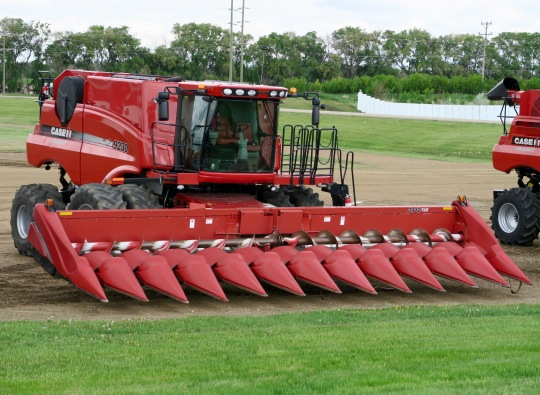 Large farming equipment could be found everywhere.