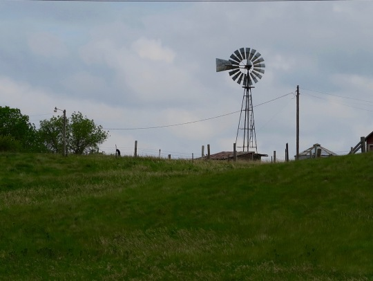 As I travelled west, ranching became more prevalent. Windmills are symbols of the West.