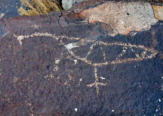 Long before Europeans came to America we were here, as ancient rock art attests to.