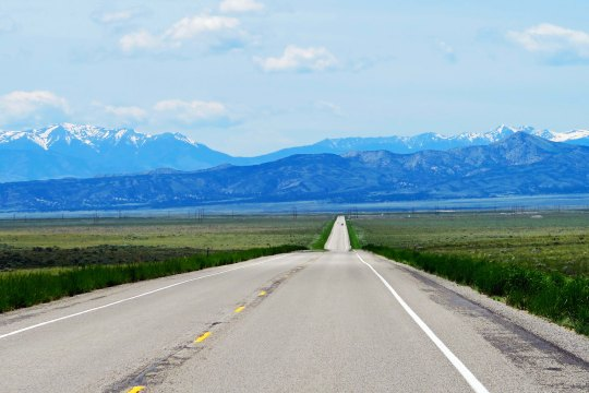 Idaho's Highway 33 seemingly stretches on forever as so many roads did during my 10,000 mile bike trek around North America.