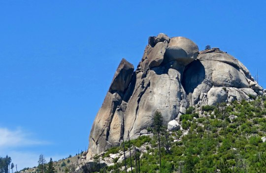 Sugarloaf Mountain located next to Kyburz Resort on Highway 50 in El Dorado County, CA.