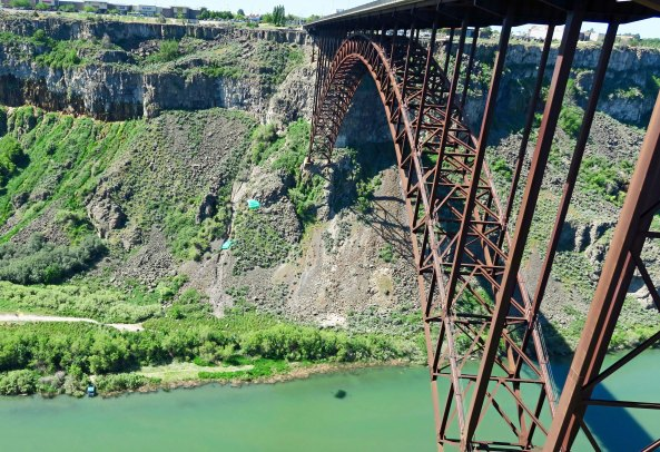 Perrine Bridge across the Snake River near Twin Falls, Idaho.