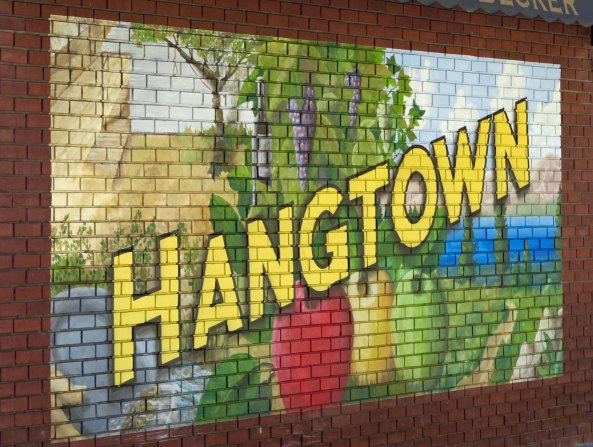 The town of Placerville where I went to high school was once known as Hangtown and is quite proud of it's heritage. A large oak tree in the center of the town was used for hanging bad guys (and probably a few innocents) during the Gold Rush Era.