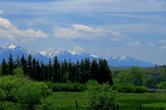 I crossed several mountain ranges including the Sierra Nevada and the Rockies twice. Tis is a photo of the rockies in Montana.