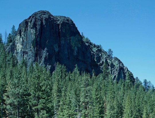 This impressive rock greeted me as I biked down to the Lake from Sooner Pass.