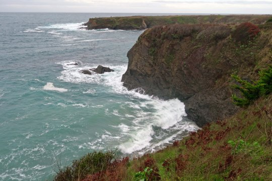 A view of the Mendocino Headlands, which host the town of Mendocino. The steep, rocky cliffs of Northern California, Oregon and Washington make up my favorite coast lines.