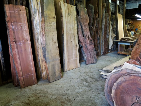 Woodworking shop in Mendocino, California.