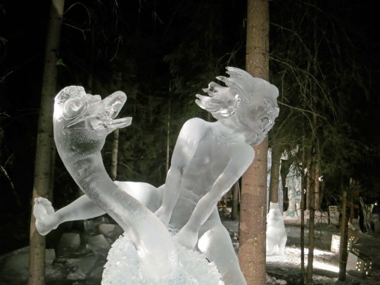 "This one, by a Russian carver, ""Yahoo!"""