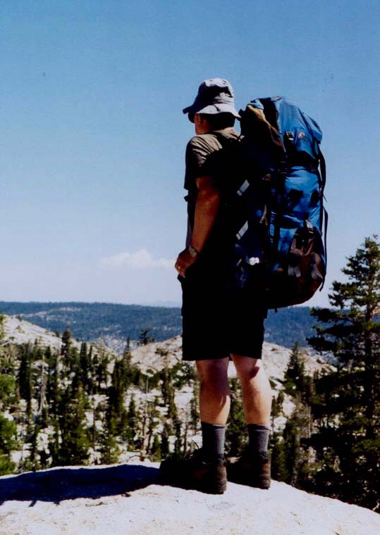 We took our second trek south through the Desolation Wilderness, which is just south of the Granite Chief Wilderness and both west of Lake Tahoe. Here I am checking out the terrain.