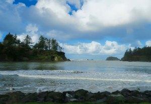 Early morning at Sunset Bay on the Oregon Coast near Coos Bay, Oregon.